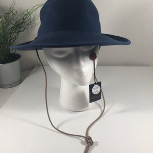 NWT Coal Waverley Blue Felt Hat Sz M
